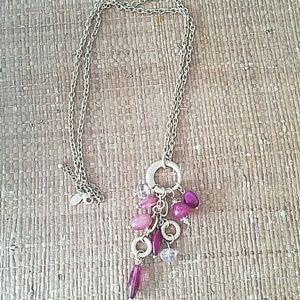 Lia Sophia Long Gold Beaded Necklace